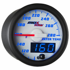 MaxTow 52mm White & Blue Double Vision Water Temperature Gauge - MT-WBDV06