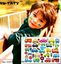 Cars Buses Trucks Child Temporary Tattoo Body Art  Kids Fake Tattoo Stickers