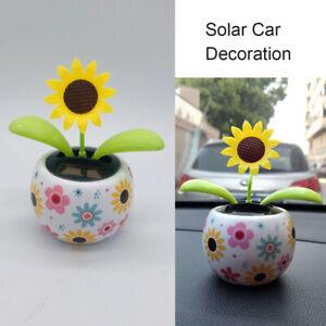 Solar Powered Dancing Flower Swinging Dancer Toy Home Car Ornament Decor