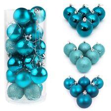 48Pcs Christmas Ball Ornaments Xmas Tree Decorations Shatterproof Baubles+Hooks