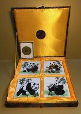 Lot of PANDA BEAR Coaster Tiles Yi Lin Arts & Treasures of China Beautiful!!
