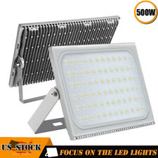 2 x500W Led Flood Light Outdoor Ultra thin Spotlight Landscape Garden Cool White