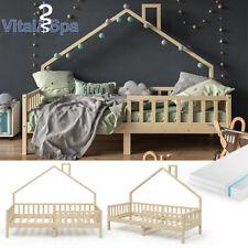 Hausbett Kinderbett Spielbett Noemi 90x200cm inkl. Matratze natur VitaliSpa