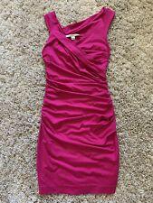 Diane Von Furstenberg Dress Size S Ruched Midi Knee Length Bodycon Dress Small