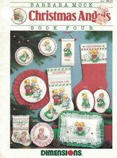 Christmas Angels Book Four Barbara Mock for Counted Cross Stitch Dimensions 1988