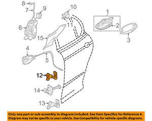 JAGUAR OEM 02-08 X-Type Lock -Rear Door-Hinge Right C2S45169
