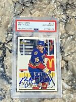 1995 Topps Brett Hull #372 Auto PSA/DNA Slabbed Authentic St Louis Blues