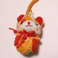 F//S Maneki Neko Chirimen Kimono Crepe Fabric Lucky Money Fortune Cat Cute D