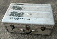 Vintage Aluminium Metal Travel Trunk RAE Royal Australian Engineers Surplus