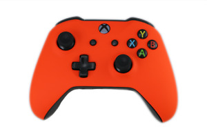 Used Microsoft Xbox One Wireless Controller Bluetooth Soft Touch Orange