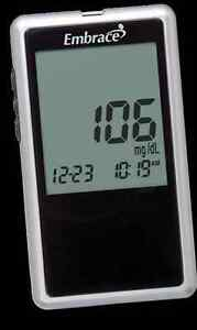 Embrace Blood Glucose Monitoring System Talking Meter No Coding Required