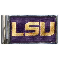 Smathers And Branson Louisiana State University Needlepoint Money Clip LSU Tiger