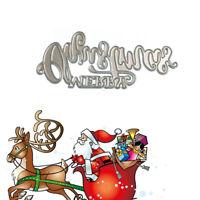 NEW Merry Christmas Design Metal Cutting Dies For Scrapbook Card Paper Album DIY