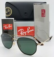 NEW Rayban Blaze Hexagonal sunglasses RB3579N 001/71 58 Gold Grey Round G15 3579