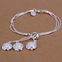 Damen Armband mit Rosen 925 Sterling Silber plattiert Schmuck