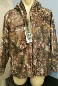 New RealTree Xtra Camo Hunting Jacket w/ Hood - Mesh Lined NWT Licensed Outdoors