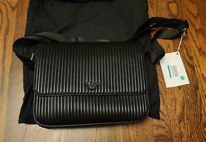 Emporio Armani Milano Flap Leather Messenger
