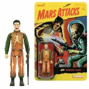 Mars Attacks Burning Human Skeleton 3 3/4-Inch ReAction Figure (free case)