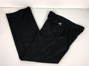 Adidas Womens Medium Pants Black Running Gym No Drawstring No Pockets EUC