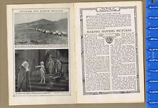 Making Moving Pictures (Movies) - 1929 History Article