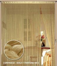 Fadenvorhang Vorhang Gardine Kaikoon 90 cm x 240 cm (BxH) currygelb gold
