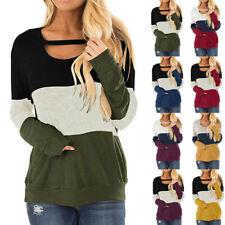 Women Long Sleeve Crew Neck T Shirt Casual Lot Basic Blouse Loose Tunic Tops