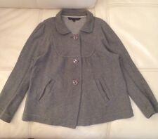 ❤️ Fabulous French Connection FCUK Sassy Grey Jacket Coat Size 10