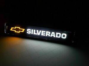1PCS SILVERADO LED Logo Light Car For Front Grille Badge Illuminated Decal