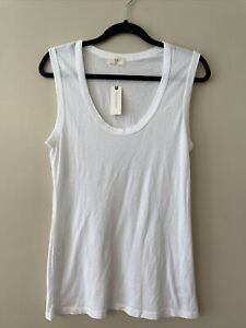 NWT ANTHROPOLOGIE T.La Alissa Layering Tank Top White Size L