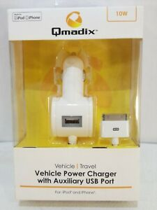 Qmadix 10w 2.1amp Vehicle Power Charger For IPad Iphone