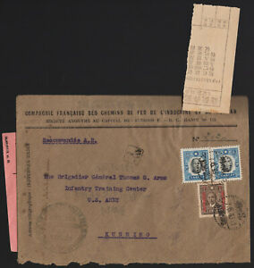 CHINA-1943 WWII-Kunming Yunnan-Double Registered USA Army RARE COVER & STAMPS!
