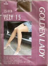 A VOIR !! collant satiné T4 Golden Lady beige fin 15 den