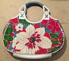 Isabella Fiore Beaded Floral Spring Leather Purse Hobo Handbag