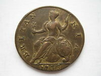 1733 George II Halfpenny VF old cleaning
