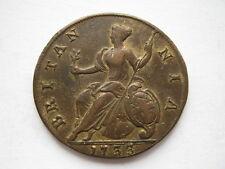 1733 George II Halfpenny vf limpieza viejo