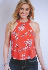 Maurices~New With Tags~Red high neck floral tank~Size XXL