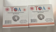 2 Toa Supply Fitted Disposable Face Cover 50pc Spa Massage Crescent Head Rest