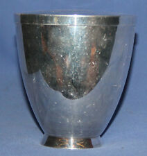 Vintage Chromed Brass Lidded Cup Bowl