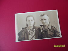 Original WW2 Photo German Luftwaffe Soldier & Wife or Sister