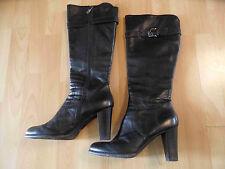 MANUFACTURE D´ESSAI chice hohe Stiefel mit Schnalle schwarz Gr. 40 TOP  BI216