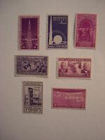 United States Scott 852 - 858, the set of seven 1939 Commemoratives
