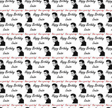 Personalised Gift Wrapping Paper ELVIS Birthday Any Name Large Sheet! EPB1