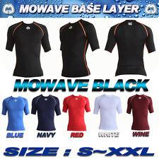 Mowave men junior compression short sleeve base layer shirts trainning gymwear