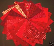 "Red 4 x 4""  Quilt Squares charms 100% Cotton fabric"