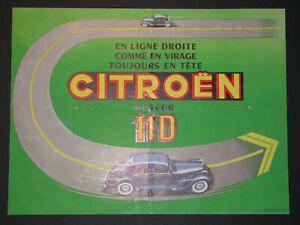 Citroen particularités moteur 11D Citroën - Dessin A.Kow Notice publicitaire