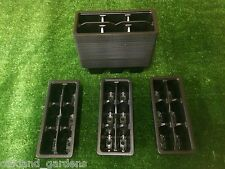 100 X TROLLEY PACKS 6 CELL INSERTS PLASTIC TRAYS TRAY SEEDS SEED SELLING PACK