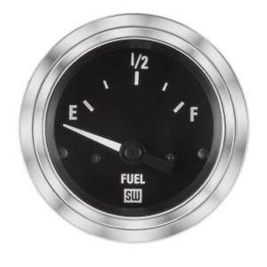 Stewart Warner 82303 Deluxe 2-1/16 In Elec Fuel Level Gauge-240/33 Ohm