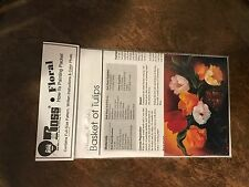 """BOB ROSS FLORAL How To Painting Pack """"Basket of Tulips"""" 'Pattern' FREE SHIPPING"""