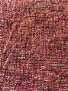 Pottery Barn King Duvet Cover Red Burgundy Velvet Chenille Blend Reversible