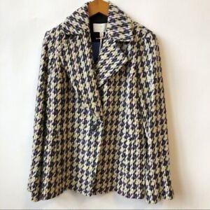 NWT Etcetera Manchester Tweed Blazer Jacket Wool blend Women's Size 8 Medium
